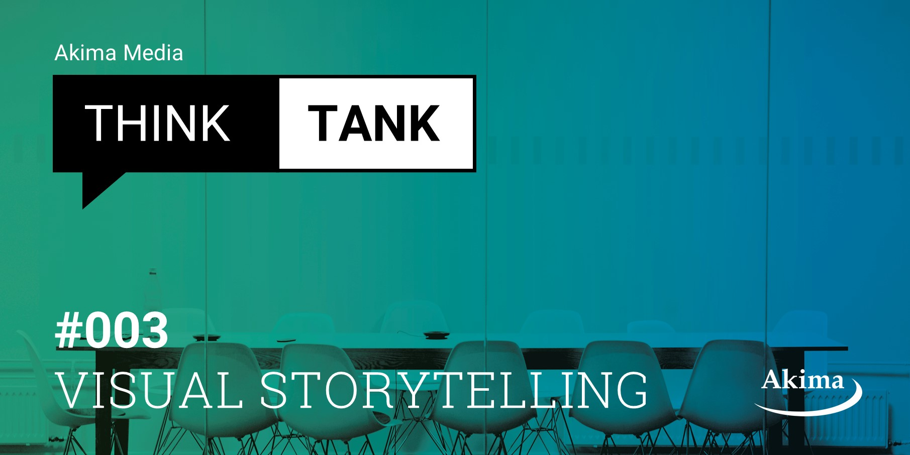 "Der Akima Media Think Tank ""Visual Storytelling"" findet am 8. November 2019 in München statt."