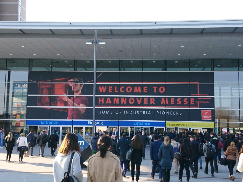 Digital aufgestellt: Auf der Industriemesse in Hannover war Digitalisierung das vorherrschende Thema.